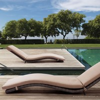 Zuo Outdoor Gemini Chaise Lounge Brown - 703075