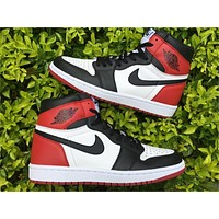 Air Jordan 1 OG Black Toe Basketball Shoes 36-47