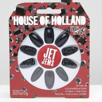 House Of Holland By Elegant Touch Party Nails - Jet Jems at asos.com