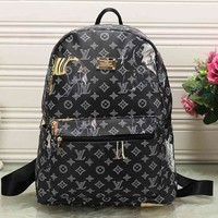 Tagre™ Perfect LV Louis Vuitton Pattern Leather Travel Bag Backpack