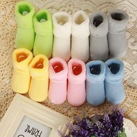 0-2T Solid Thick Winter Baby Terry Socks New Born Soft Baby Girls Boys Socks