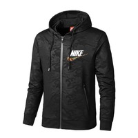 NIKE Woman Men Fashion Hooded Sport Cardigan Jacket Coat Sweatshirt