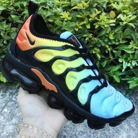 NIKE Air VaporMax Plus TN Fashion New Air Cushion Leisure Sports Women Colorful Shoes Black