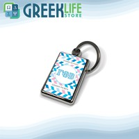 Gamma Phi Beta Key Chain Metallic