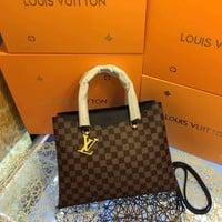 LV Louis Vuitton Damier Ebene CANVAS HANDBAG SHOULDER BAG