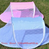 New Portable Baby Bed Crib Folding Mosquito Net for Baby,Pink and Blue Baby Bed Net Free Shipping Baby Insect Tent Travel Infant