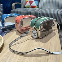 LV New matching color printed transparent camera bag ladies fashion one-shoulder cross-body bag