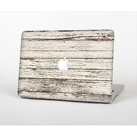 """The White Painted Aged Wood Planks Skin Set for the Apple MacBook Pro 13"""" with Retina Display"""