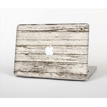 The White Painted Aged Wood Planks Skin Set for the Apple MacBook Air 11""