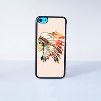 INDIAN SKELETON Plastic Phone Case For iPhone 5C More Case Style Can Be Selected