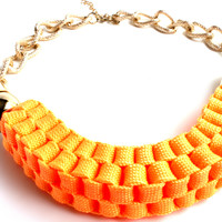"""Look On The Bright Side"" Gold Choker Necklace"