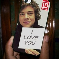 iPhone 4/4s case also iPhone 5 by order - HARRY STYLES I LOVE YOU