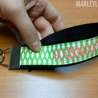 Monogrammed Large Key Fob Key Chain | Key Chains | Marley Lilly