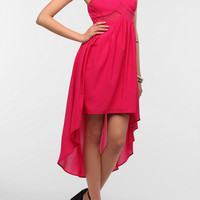 Sparkle & Fade Mesh Inset Sweetheart Dress