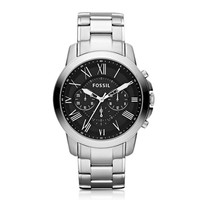 Fossil Designer Men's Watches Grant Chronograph Silver Stainless Steel Men's Watch