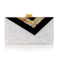 M'O Exclusive Vee Clutch | Moda Operandi