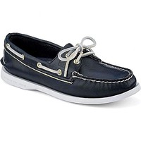 Women's Authentic Original Metallic Tipped Boat Shoe in Navy & Gold  by Sperry