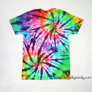Adult Small Double Spiral Tie Dye Shirt