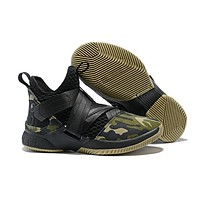 Nike LeBron Soldier 12 Black/Green Camo Basketball Shoe US7-12