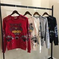 KENZO winter Embroidered crew neck sweater S-XL