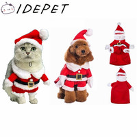 High Quality Santa Claus Dog Costume Pet Cat Coat Winter Clothes Christmas Apparel Cotton Clothing for dogs ropa para perros 29