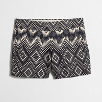 Factory basketweave short in ikat