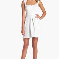 GUESS Cutout Back Jacquard Fit & Flare Dress | Nordstrom