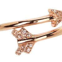 Juicy Couture Pave Arrow Adjustable Ring