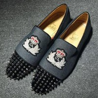 DCCK2 Cl Christian Louboutin Loafer Style #2394 Sneakers Fashion Shoes