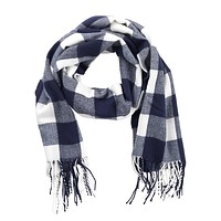 Navy Buffalo Check Adaline Scarf