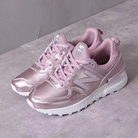 New Balance Metal Leather Women Sneaker - Rose Gold