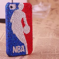 Unqiue NBA Basketball Rhinestone Case for iPhone4/4S