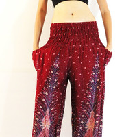 Women Pants Trousers Yoga Pants Harem Pants Boho Hippie Gypsy Genie Pants Aladdin Pants Baggy Pants
