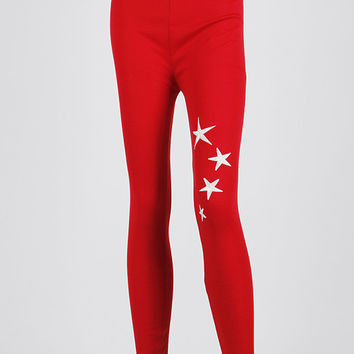 STAR EMBROIDERED LEGGINGS
