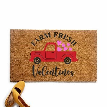 Farm Fresh Valentine's Day Doormat