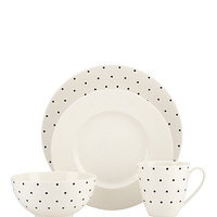 Kate Spade Larabee Dot 4 Piece Place Setting Cream ONE