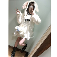 Fur Coat Female Fashion Womens Fashion Winter Faux Fox Fur Hooded Leather Thick Outwear Rabbit ears-in Fur & Faux Fur from Women's Clothing & Accessories on Aliexpress.com | Alibaba Group