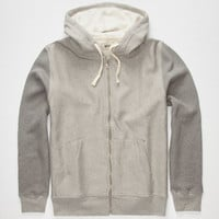Lightning Bolt Two Tone Mens Zip Hoodie Light Grey  In Sizes
