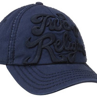 True Religion Men's Tonal 3-D Logo Baseball Cap, Midnight Blue, One Size