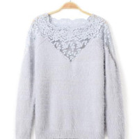 'The Delilah' Lace Knitted Sweater