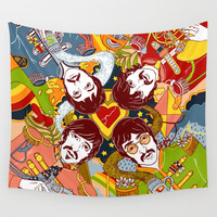 Sgt. Pepper's Lonely Hearts Club Band Wall Tapestry by Julia Minamata | Society6