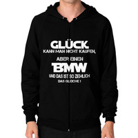 CLUCK BMW Zip Hoodie (on man)
