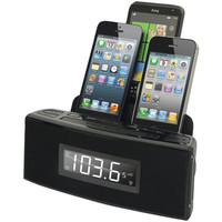 Dok 3-port Smartphone Charger With Speaker & Alarm Clock