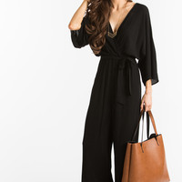 Brandy Black Waist Tie Jumpsuit