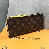 LV Louis Vuitton women's simple and versatile double zipper coin purse