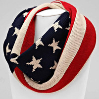 American Cable Knit Winter Infinity Scarf