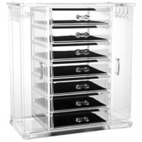 Deluxe 7-Drawer Jewelry Chest with Necklace Keeper