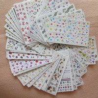 50PCS/lot Nail Art Cute 6*10cm W Series Different Designs Mixed Water Decal Nail Art Water Sticker without package