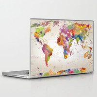 map Laptop & iPad Skin by Mark Ashkenazi