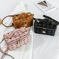 MCM Fashion classic one-shoulder small square bag hand bag cross-body box bag makeup bag lady